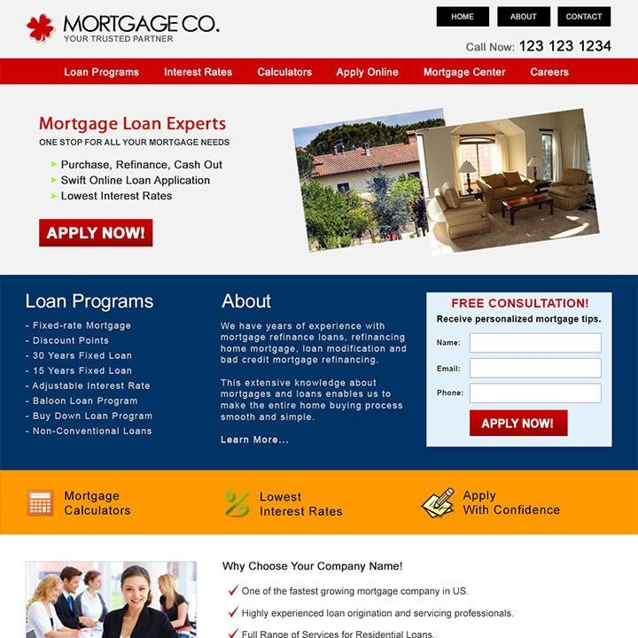 Residential Mortgage Website Templates