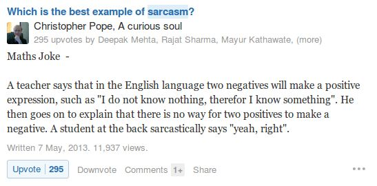 The difference between sarcasm and wit...(2017) - Quora