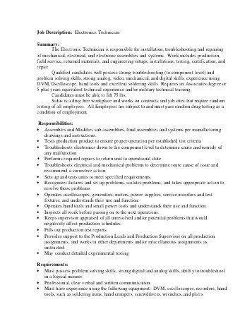 computer technician job description sample. job brief. sample ...