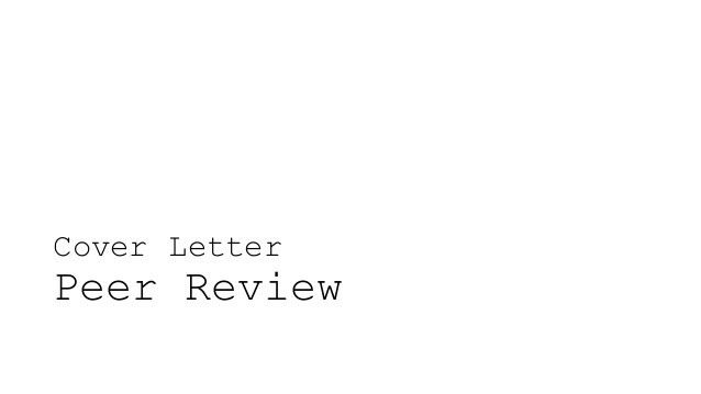 W06: Cover Letter Peer Review & Resume