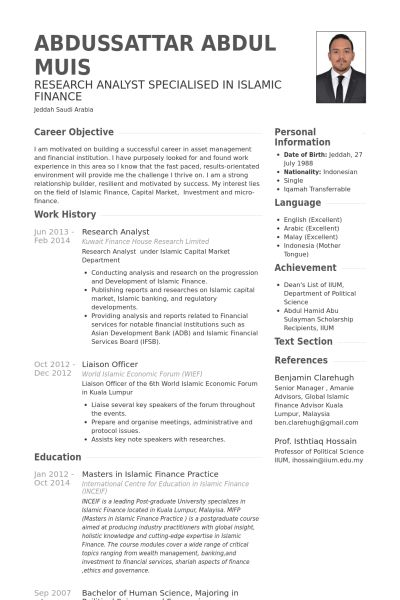derivatives analyst sample resume example derivative operations