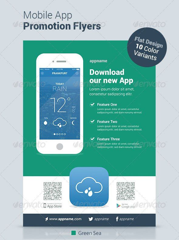 30 Effective Web & Mobile Apps Flyer PSD Templates | Web & Graphic ...