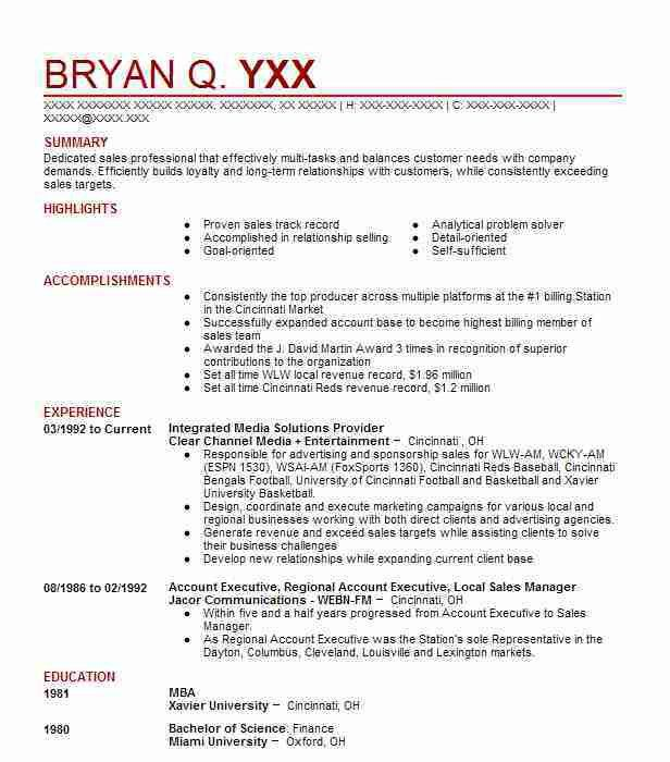 11 Amazing Media & Entertainment Resume Examples | LiveCareer