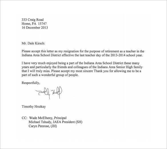 Resignation Letter Templates - 11+ Free Sample, Example, Format ...