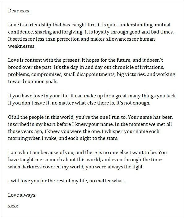 52 love letter templates free sample example format download what to write in open when letters google search diy ideas pronofoot35fo Images