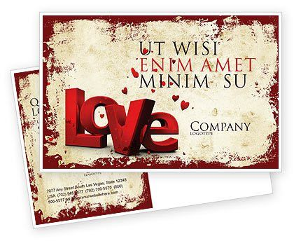 Christmas Love Postcard Template in Microsoft Word, Adobe InDesign ...