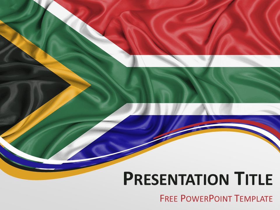 South Africa Flag PowerPoint Template - PresentationGo