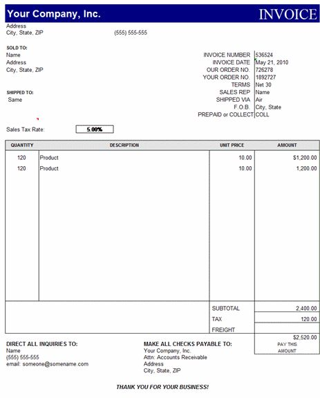 Free Printable Service Invoice Template for MS word and Pdf ...