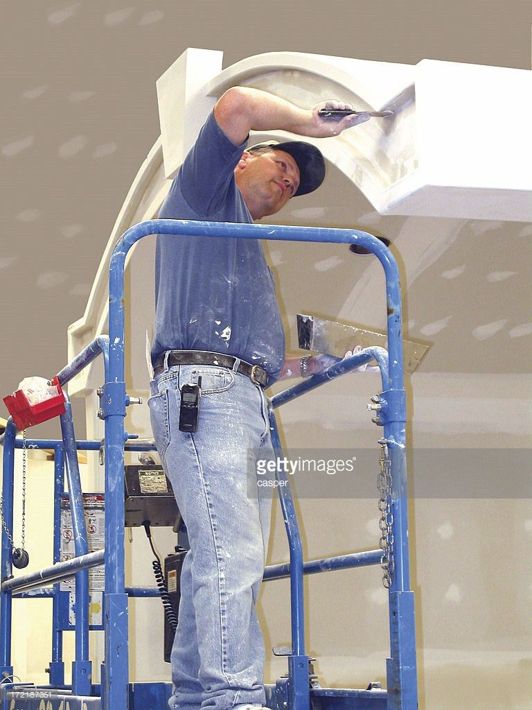 Drywall Installer Stock Photo | Getty Images