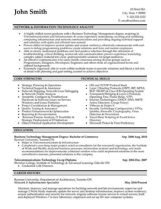 Click Here to Download this Network and IT Analyst Resume Template ...