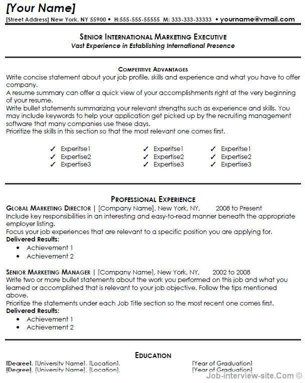 Marketing Resume Sample Resume Genius Free Resume Templates 2017 ...