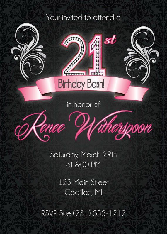21st Party Invitation Templates 21st Birthday Party Invitations – 21st Party Invitations Templates