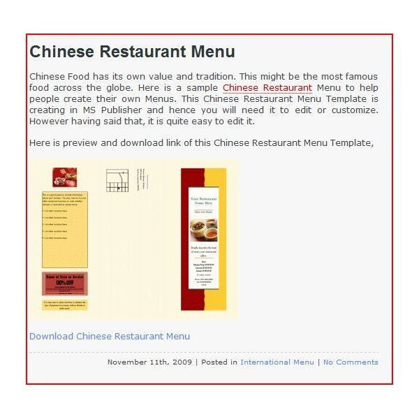If You Need A Restaurant Menu Template: Here Are 11 Excellent ...