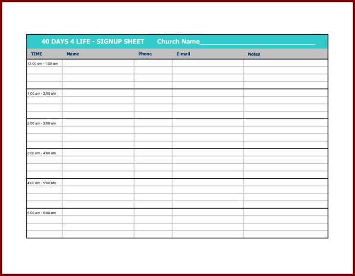 Golf Sign Up Sheet Template | HAISUME