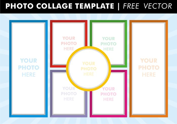 Photo Collage Templates Free Vector - Download Free Vector Art ...