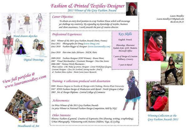 10+ Fashion Designer Resume Templates - Free Word, Excel, PDF