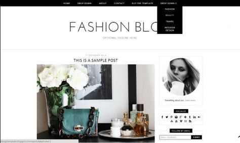 Annelise premade blogger template by Get Polished on ...