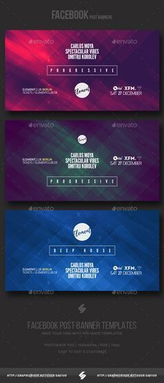 Electronic Music Party vol.7 - Facebook Post Banner Templates ...