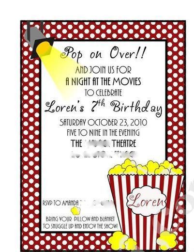 Popcorn and movies Movie Night Party Ideas | Night parties ...