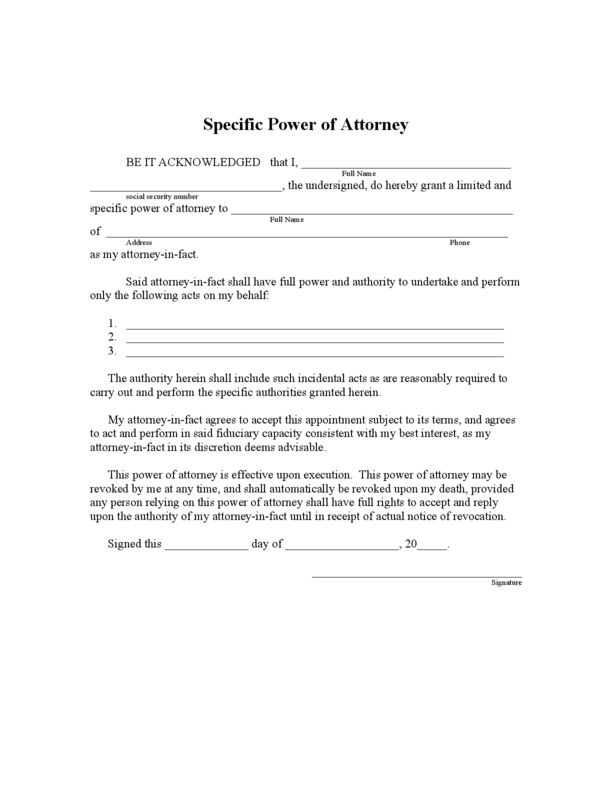 Florida Limited Power of Attorney Form | LegalForms.org