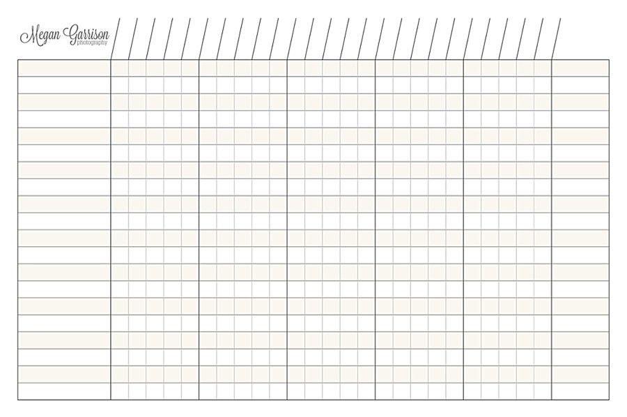 Blank Chart Printable | Printable Maps
