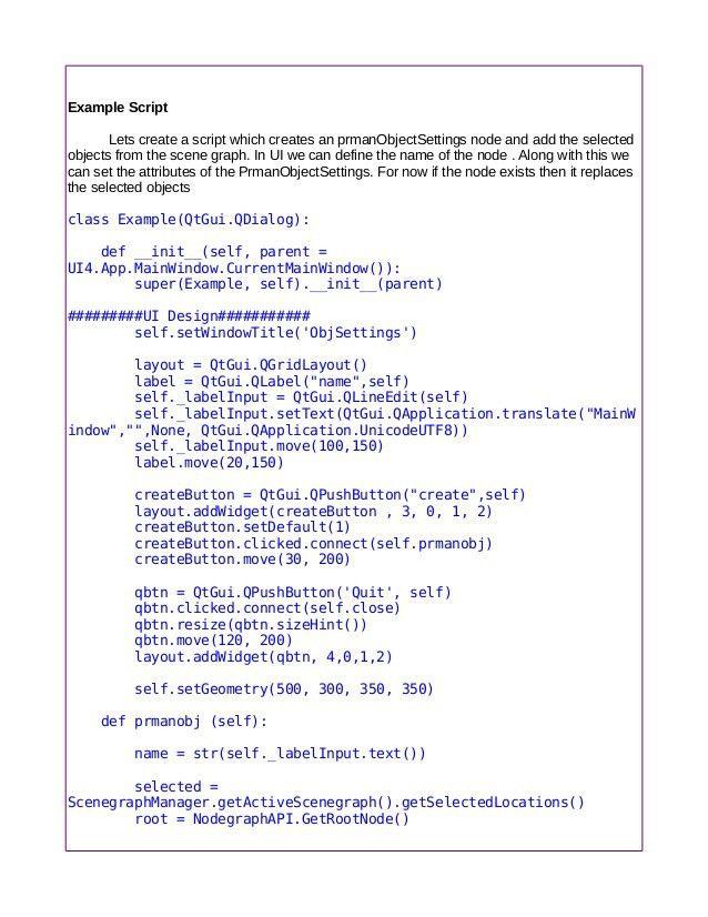 Python for katana