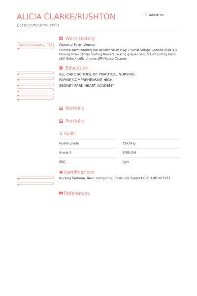 Worker Resume samples - VisualCV resume samples database
