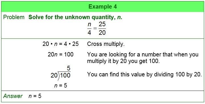 Finding an Unknown Quantity in a Proportion