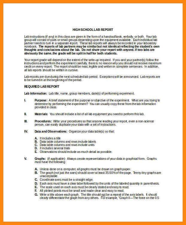 7+ lab report example   nurse resumed