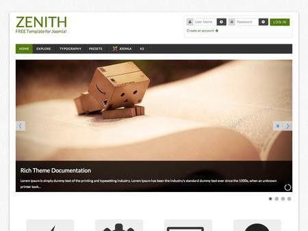 Free Joomla Template - Zenith - Premium Joomla Template FREE
