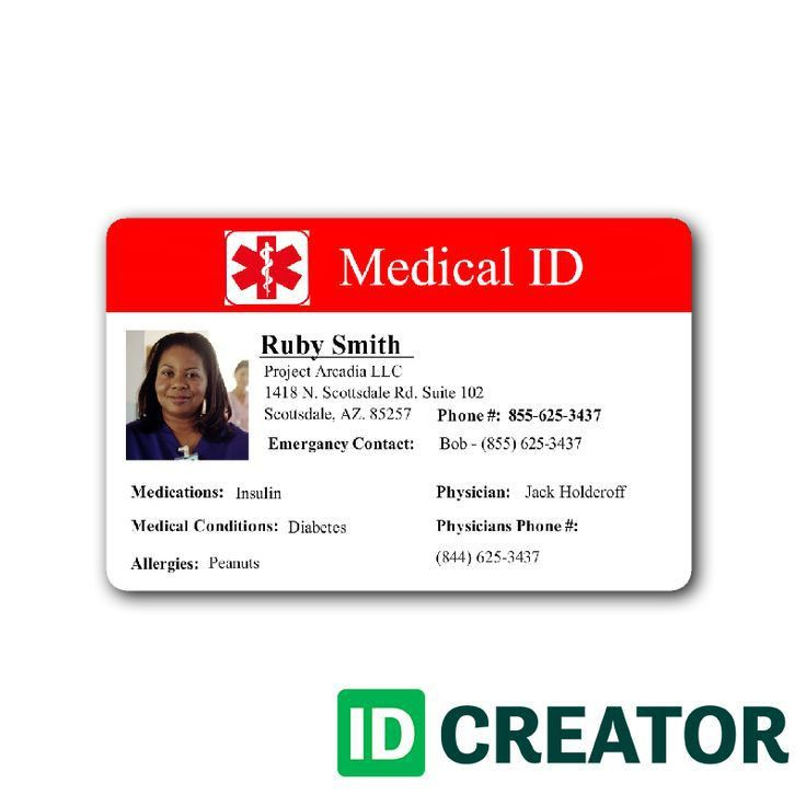 Medical ID Card | Healthcare/Hospital Badge | Pinterest | Medical ...