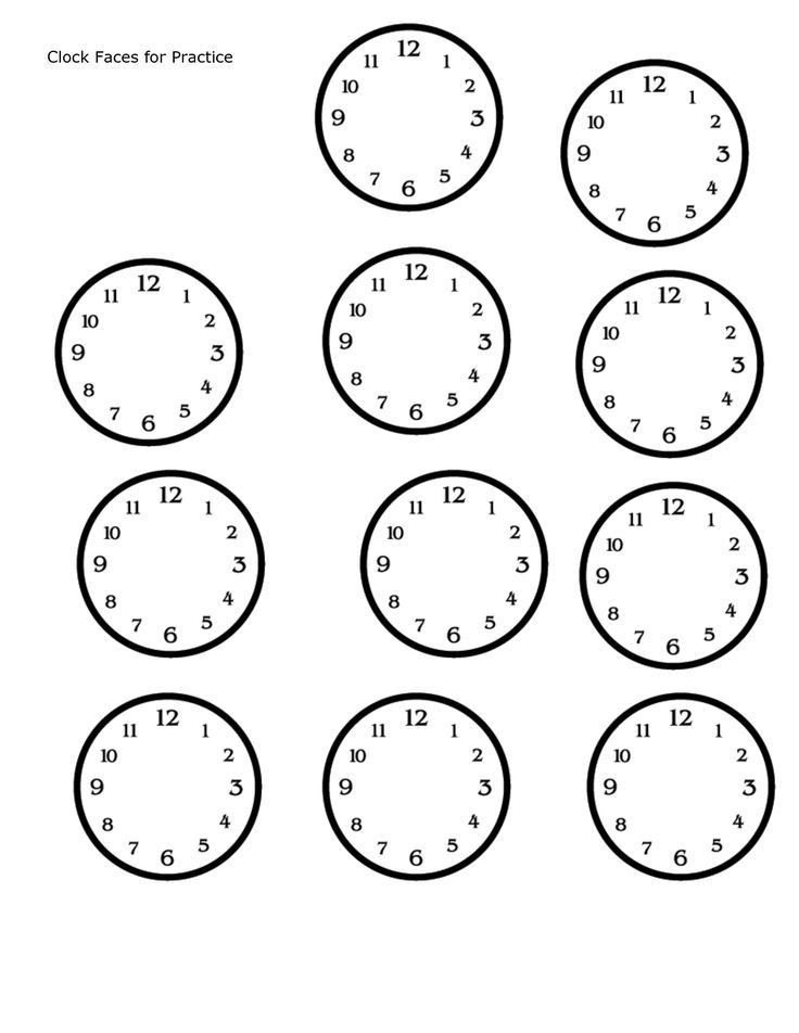 The 25+ best Blank clock ideas on Pinterest | Clock worksheets ...
