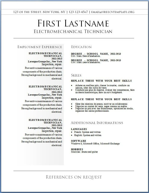 Downloadable Resume Template. Sample Nurse Resume Template Free ...