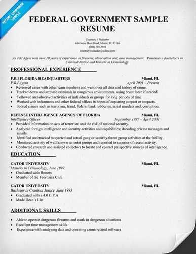 federal job resumesResume Example Resume Example