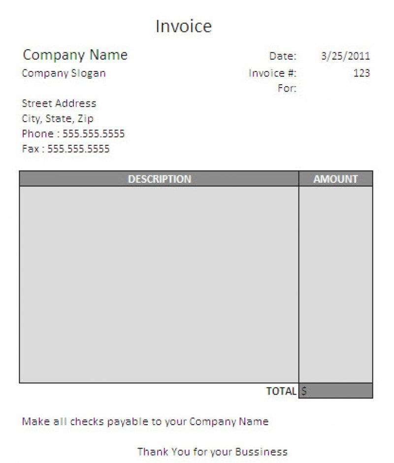 invoice template word download