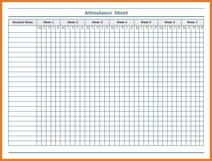 printable attendance sheet | art resume skills