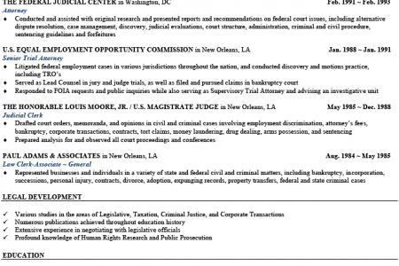 Sample Resume Senior Attorney, Senior Attorney Resume Example ...