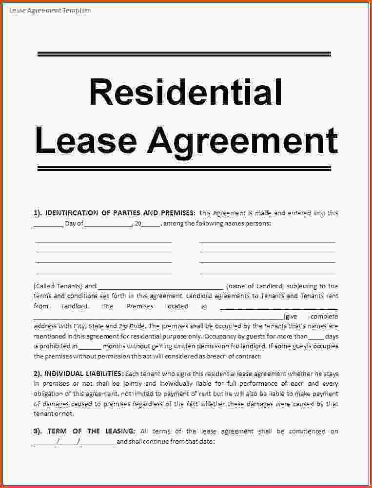 10+ lease agreement template word | Survey Template Words