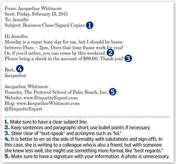 Mind Your Email Manners - WSJ