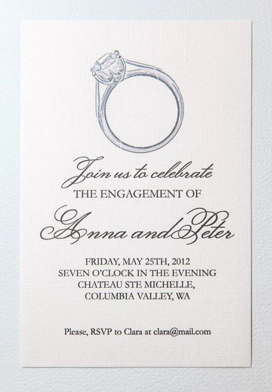 Free Printable Engagement Party Invitations | cimvitation