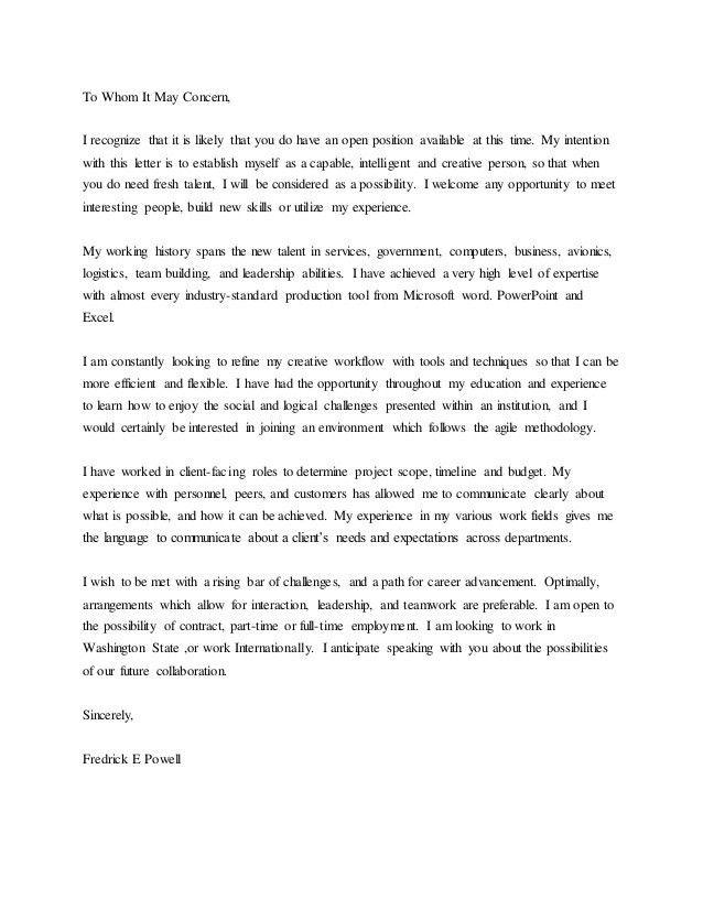 Universal Cover Letter Samples - Best Letter Sample