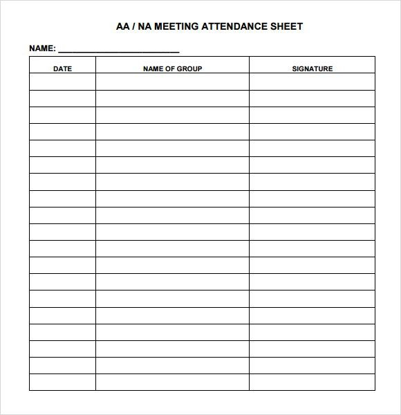 9+ Attendance sheet templates - Word Excel PDF Formats