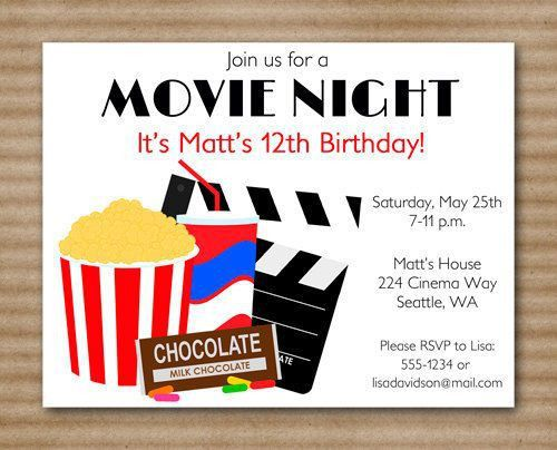 7 best Ciaran Party images on Pinterest | Movie night invitations ...