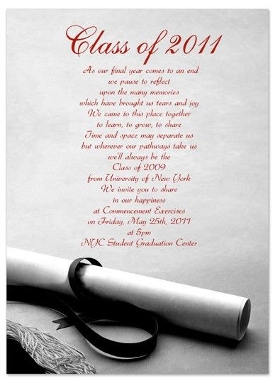 Download Examples Graduation Invitation Announcement... Word ...