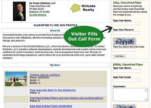 Classified Flyer Ads Releases New Feature - Click to Call