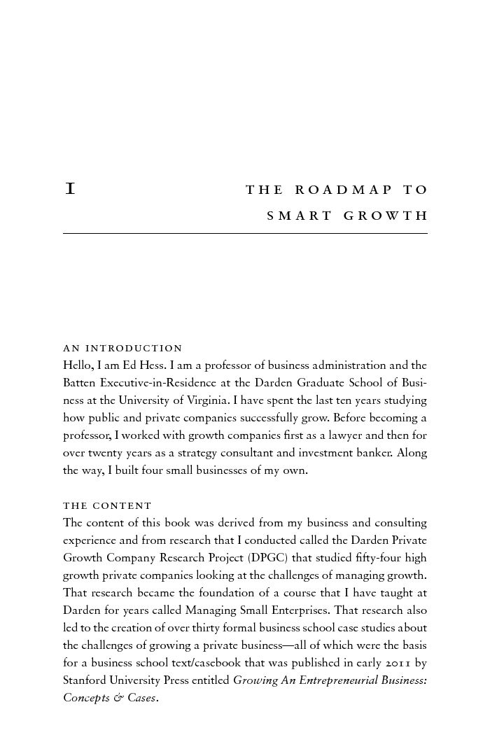 Grow to Greatness: Smart Growth for Entrepreneurial Businesses ...