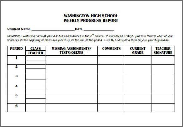 PROGRESS REPORT TEMPLATE | Bidproposalform.com