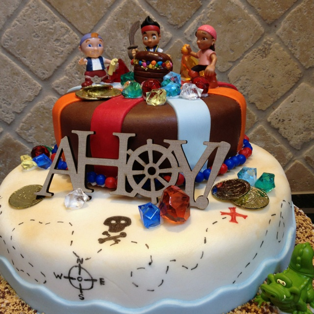 Jake and the Neverland Pirates Birthday Cake maybe with a pirate