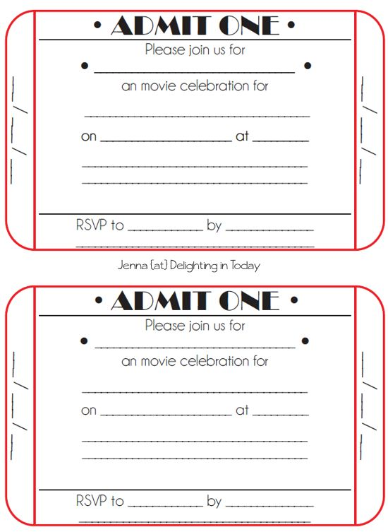Ticket Invitation Template Free - Themesflip.Com