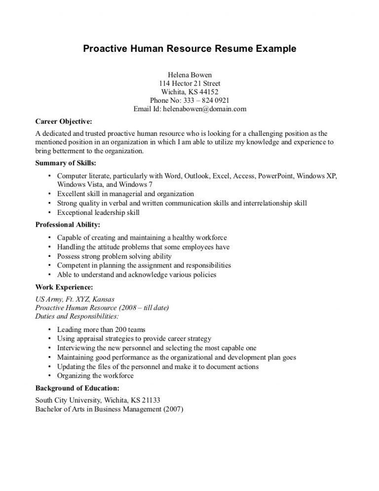 Winsome Inspiration Hr Resume Objective 8 Human Resources For ...
